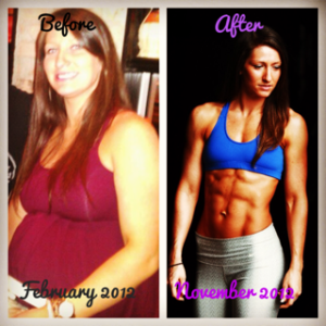 8 Month Transformation (after first pregnancy)